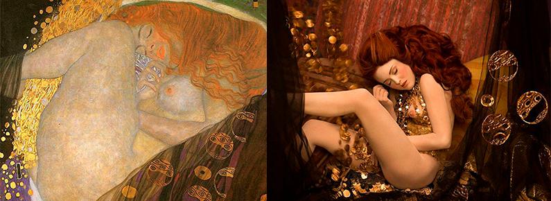 Fotógrafo recria obras de Gustav Klimt com modelos reais em ensaio de tirar o fôlego