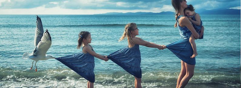Fotógrafo utiliza sua própria família para criar manipulações extraordinárias