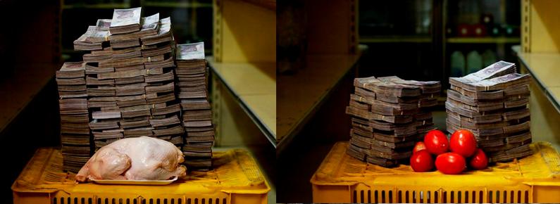 Fotógrafo retrata a desvalorização da moeda na intensa crise venezuelana